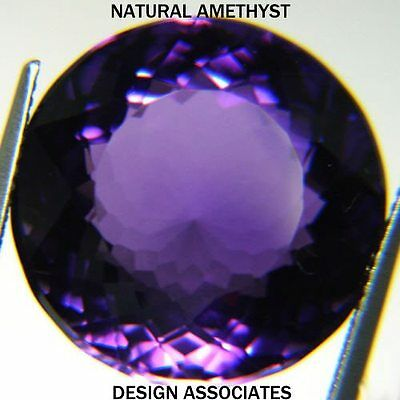 African Amethyst Round Cut 25 Mm All Natural