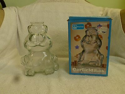 Vintage Garfield Penny Bank 1978 Anchor Hocking glass