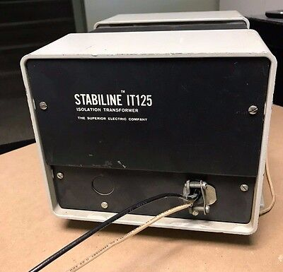 Stabiline isolation transformer IT-125  120/240 input and output single phase