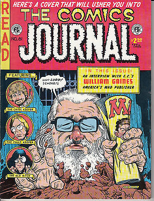 Comics Journal 81 - May 1983 - William Gaines  EC Mad Stout Cutey Bunny