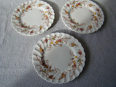 Set of 3 Vintage Heritage England Bread & Butter Plates 431611