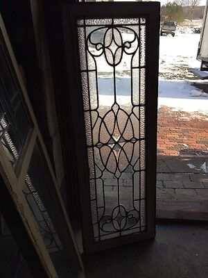Sg 1000 Antique Transom Window With Beveled Glass Center 17 X 49""