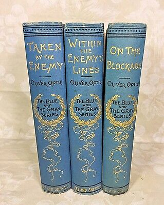 3 Vols Civil War Blue & Gray Series Within Enemy Lines 1st Books of This Series