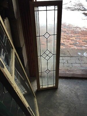 Sg 1002 Antique Leaded Glass Beveled Glass Transom