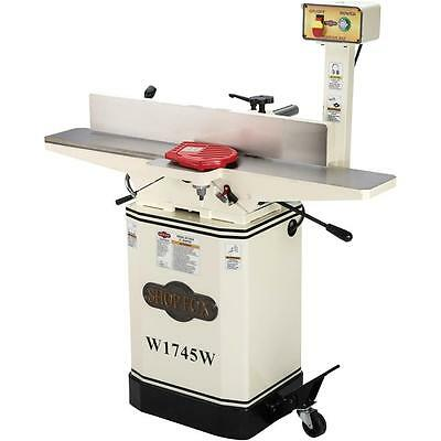 """Shop Fox W1745W 6"""" Jointer with Mobile Base and Oversized Fence"""