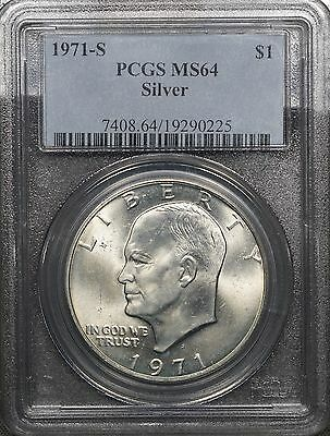 1971 S Silver Eisenhower Dollar PCGS MS64