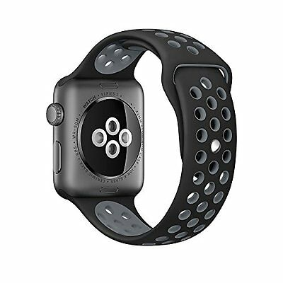 Apple Watch 42mm Band Series 2 Soft Sports Silicone Replacement Bracelet Strap