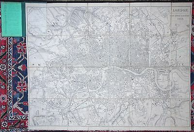 ANTIQUE MAP Post Office Directory LONDON ENGLAND B R Davies 1868