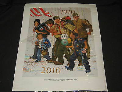 Csatari 100th Anniversary Salute to Scouting Boy Scout Print    cp