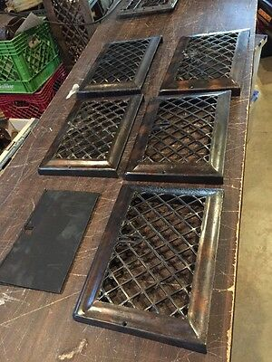 Ca 23 Set Of Five Matching Floor To Wall Heating Grates