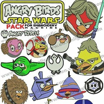 Brother Angry Birds Star Wars Stickmuster