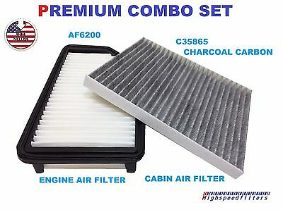 AF6200 C35865 ENGINE & CHARCOAL CABIN AIR FILTER FOR 12 - 16 Accent Veloster RIO