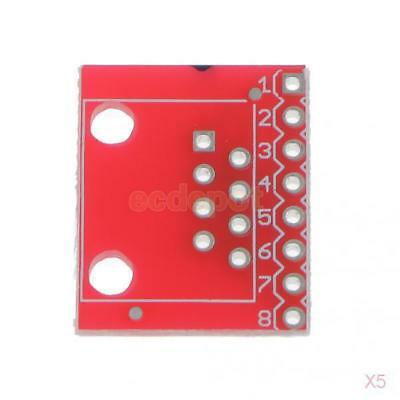 5x Small PCB RJ45 8P8C to Screwless Terminal Connector and Breakout Board Kit