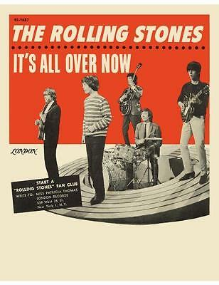 Rolling Stones POSTER *AMAZING EARLY IMAGE* Mick Jagger Brian Jones Richards