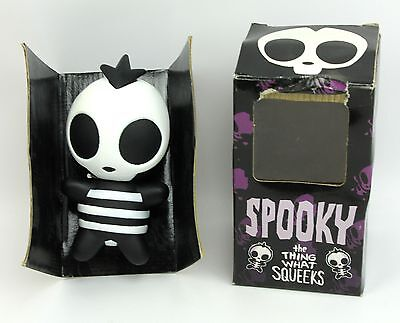 Spooky the Thing What Squeeks Skeleton Squeaky Toy Monkey Fun Toys