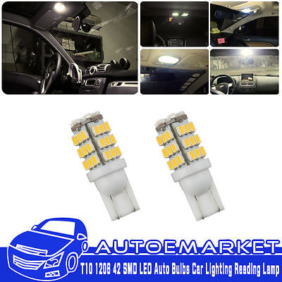 10Pcs DC 12V T10 1206 42 SMD LED Auto Bulbs Car Lighting Reading Lamp Warm White