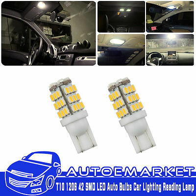20Pcs DC 12V T10 1206 42 SMD LED Auto Bulbs Car Lighting Reading Lamp Warm White