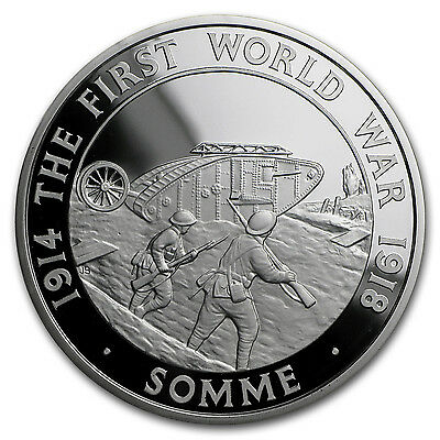 2016 Great Britain £5 Silver First Battle of The Somme Proof - SKU #98522