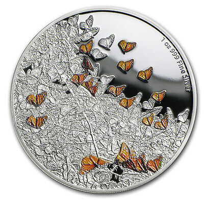 2016 Niue 1 oz Silver Great Migrations Monarch Butterfly Proof - SKU #102762