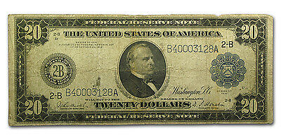 1914 (B-New York) $20 FRN VG - SKU #67074