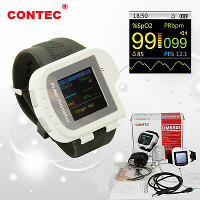 CONTEC CMS50I Wrist Digital Pulse Oximeter SPO2 PR Monitor Blood Oxygen CE FDA