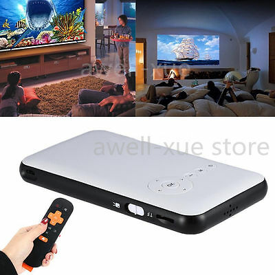Mini LED DLP WIFI Bluetooth Pocket Projector Home Cinema HD 1080P 1000lumens USB