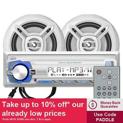 Dual MCP103 Marine Stereo and Speakers Package with GEN DUAL WARR