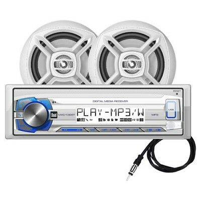 "Dual MCP136BT Marine Bluetooth Stereo & 6.5"" Speakers with GEN DUAL WARR"