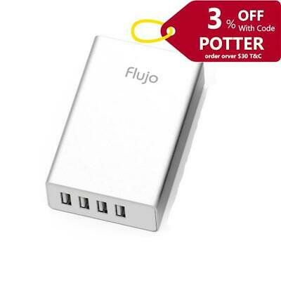 Flujo 4 Port USB Smart Charger (Silver) PW-1-B