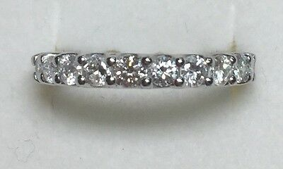 2 ct natural (REAL) 22 - DIAMOND ANNIVERSARY ETERNITY ring SOLID 14k white GOLD