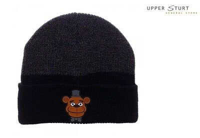 Five Nights Rubber Art Cuff Beanie FAST 'N FREE DELIVERY