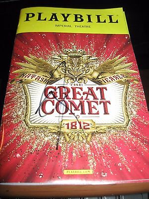 The Great Comet Broadway Playbill autographed by Josh Groban WOW ! LAST ONE !!