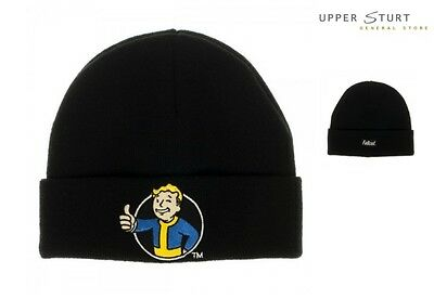 Fallout Vault Boy Black Cuff Beanie FAST 'N FREE DELIVERY