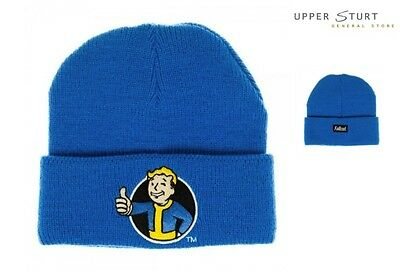 Fallout Vault Boy Blue Single Layer Cuff Beanie FAST 'N FREE DELIVERY