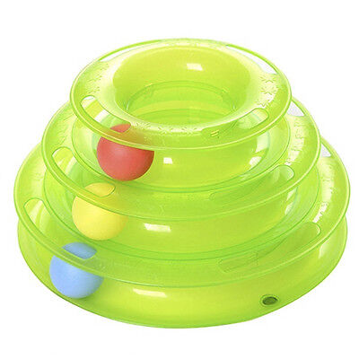 Jouets pour chat Three Layer Intelligence Pet Toy Amusement Tower of Track Balls