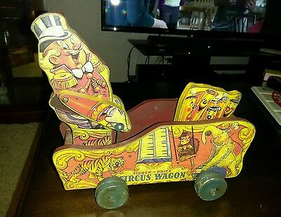 Vintage Fisher Price #156 Circus Wagon 1940's wooden   NO RESERVE   RARE