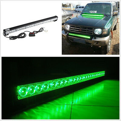 Green 24 LED Emergency Strobe Safety Warning Light Bar For Jeep Grand Cherokee