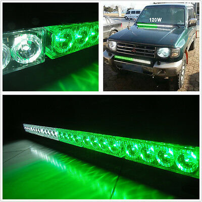 Green/white 24 LED Emergency Strobe Safety Warning Light Bar For GMC Cherokee