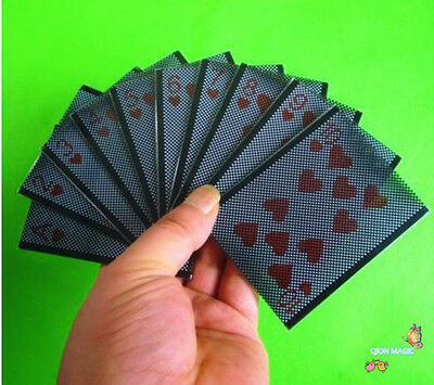 Pack of 10,WOW Sleeve Plastic Card Hearts Set,Card Magic Trick Paper Illusions