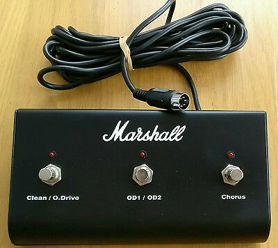Marshall 6 Pin Din 3 Way Footswitch Never Used