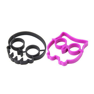 Silicone Skull Egg Fried Frying Mould Funny Breakfast Pancake Mold Ring