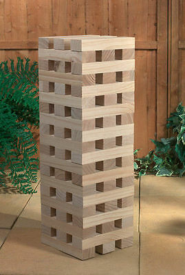 Wooden Giant Jenga Style Game Tower Garden, Party, BBQ Game (1.2m / 60 Pieces)