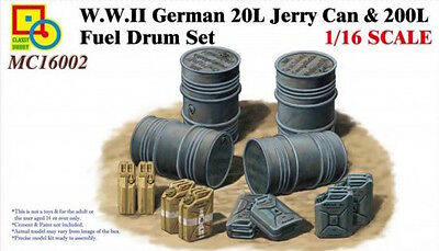 Classy Hobby 1:16 scale German fuel drum and jerry can set