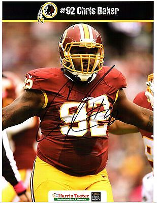 Chris Baker Washington Redskins Defensive End Miami Dolphins Denver Broncos