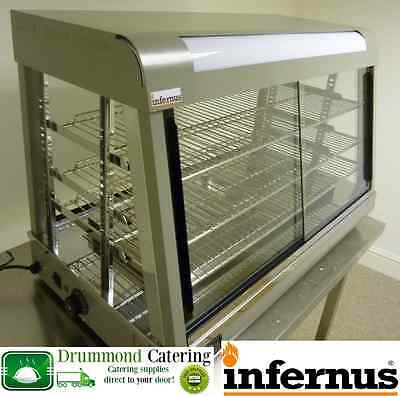 New Infernus Heated Display Cabinet Food /Pie /Chicken Warmer Showcase-900mm