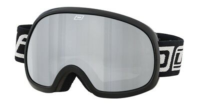 Dirty Dog Adults Mens Womens Scapegoat Snow Ski Goggles Black with Silver Lens