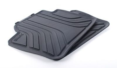 BMW Genuine All Weather Rubber Floor Mats Set Rear F30/F31/F36 51472219802