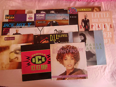 "JOB LOT: Collection of 15 12"" singles inc. U2, Whitney, Yazz, Paula Abdul"