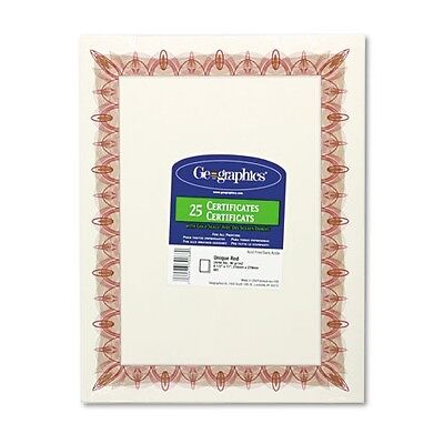 Geographics Certificate with Seals - 39086
