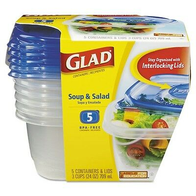 Glad GladWare Soup & Salad Food Storage Containers - 60796PK